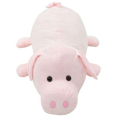 vidaXL cochon en peluche rose