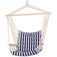 ProGarden Chaise hamac avec bandes bleues