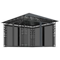 vidaXL Tonnelle avec moustiquaire et lumières LED 3x3x2,73m Anthracite