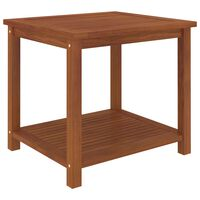 vidaXL Table d'appoint Bois d'acacia massif 45 x 45 x 45 cm