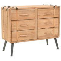 vidaXL Armoire à tiroirs bois de sapin massif 91 x 35 x 73 cm
