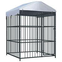 vidaXL Chenil d'extérieur avec toit pour chiens 150x150x210 cm