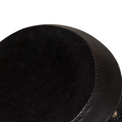 vidaXL Selle, bridon et col de poitrine Cuir véritable 17 po Noir