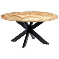 vidaXL Table de salle à manger Rond 150x76 cm Bois de manguier massif