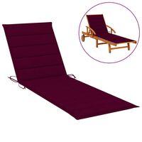 vidaXL Coussin de chaise longue Rouge bordeaux 200x50x4 cm Tissu