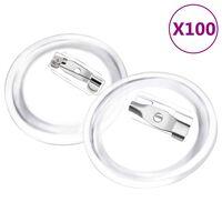 vidaXL Kit de badges à bouton avec épingles 100 sets Acrylique 25 mm