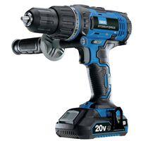 Draper Tools Perceuse avec 2 batteries 2Ah Storm Force 20V 50Nm