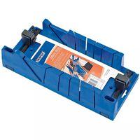Draper Tools Boîte à onglets avec dispositif de serrage Bleu 09789