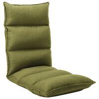 vidaXL Chaise pliable de sol Vert Tissu