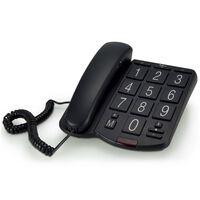 Profoon Téléphone de bureau à grosses touches Noir Plastique TX-575