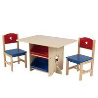 KidKraft Ensemble de table et 2 chaises avec motif d'étoile