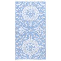 vidaXL Tapis d'extérieur Bleu azuré 160x230 cm PP