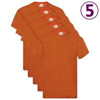 Fruit of the Loom T-shirts originaux 5 pcs Orange XXL Coton