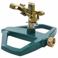 vidaXL Arroseur rotatif Vert 21x22x13 cm Métal