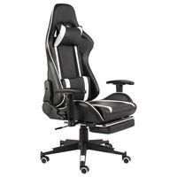 vidaXL Chaise de jeu pivotante avec repose-pied Blanc PVC