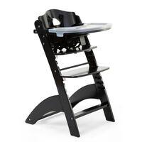 CHILDHOME Chaise haute bébé 2 en 1 Lambda 3 Noir