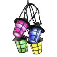 KONSTSMIDE Ensemble de lanternes avec 20 ampoules Multicolore