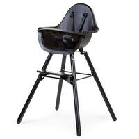 CHILDHOME Chaise haute de bébé 2-en-1 Evolu 2 Noir