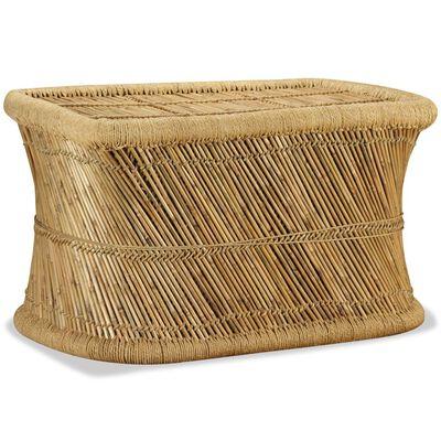 vidaXL Table basse rectangulaire 78 x 50 x 45 cm Bambou, Brun