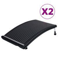 vidaXL Panneaux de chauffage solaire de piscine courbés 2 pcs 110x65cm
