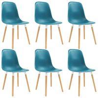 vidaXL Chaises de salle à manger 6 pcs Turquoise Plastique