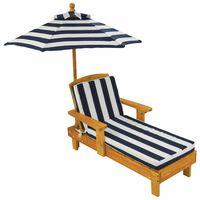 KidKraft Ensemble de chaises longues pour enfants 3pcs Bois Bleu 00105