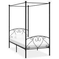 vidaXL Cadre de lit à baldaquin Noir Métal 120 x 200 cm