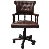 vidaXL Chaise de bureau pivotante Marron