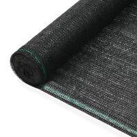 vidaXL Clôture de tennis PEHD 1,6 x 50 m Noir