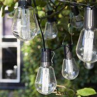 Luxform Guirlande lumineuse solaire 10 LED Alicante Transparent