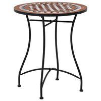 vidaXL Table de bistro mosaïque Marron 60 cm Céramique