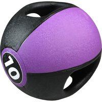 Pure2Improve Ballon médicinal avec poignées 10 kg Violet