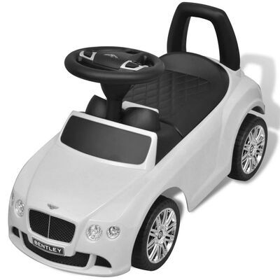 vidaXL Voiture à pousser par pied pour enfants Bentley Blanc