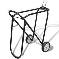 vidaXL Porte-selle pliable métallique avec roues