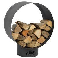 Esschert Design Support de stockage du bois de chauffage Rond FF282