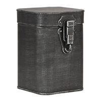 LABEL51 Boîte de rangement 12x13x17 cm M Noir antique