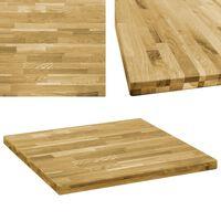 vidaXL Dessus de table Bois de chêne massif Carré 44 mm 70x70 cm