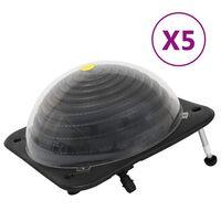 vidaXL Chauffage solaire de piscine 5 pcs 75x75x36 cm PEHD Aluminium
