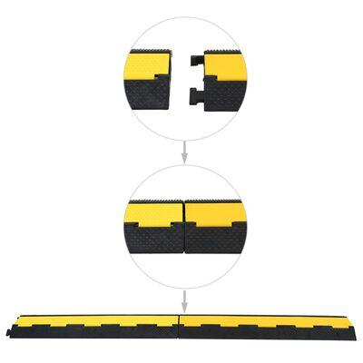 vidaXL Rampes de protection de câble 2 pcs 2 canaux caoutchouc 101,5cm