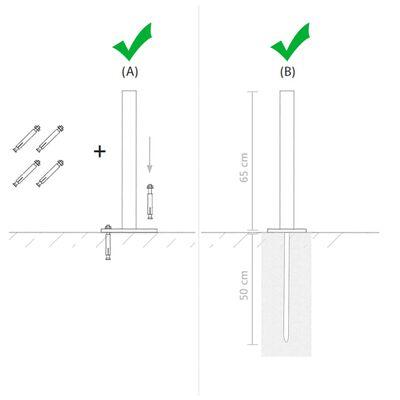 vidaXL Pied en acier de remplacement 2 pcs 115 cm Argenté,