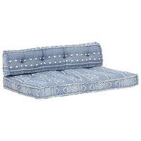 vidaXL Coussin de canapé palette Indigo Tissu Patchwork