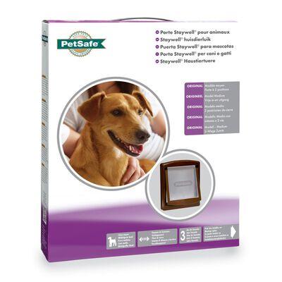 PetSafe Porte à 2 voies pour chiens 755 Medium 26,7 x 22,8 cm Marron