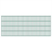 vidaXL Panneaux de clôture de jardin 2D 2,008x0,83 m 14 m total Vert