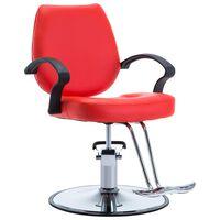 vidaXL Chaise de coiffeur Similicuir Rouge