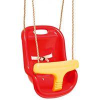 Siège balançoire bébé rouge/jaune Swing King