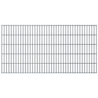 vidaXL Panneaux de clôture de jardin 2D 2,008x1,03 m 10 m total Gris