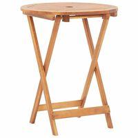 vidaXL Table pliable de jardin 60x75 cm Bois d'acacia massif