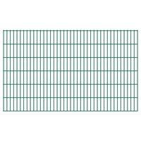 vidaXL Panneaux de clôture de jardin 2D 2,008x1,23 m 34 m total Vert