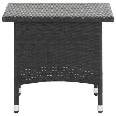 vidaXL Table à thé Noir 50x50x47 cm Résine tressée