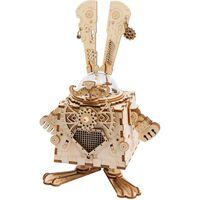 Robotime Kit de maquette de boîte à musique Steampunk Bunny